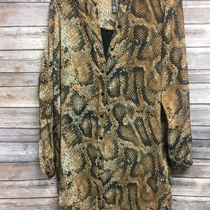 Kenzie Snakeskin Dress Small